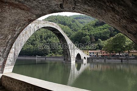 ponte, della, maddalena, across, the, serchio. - 28259211