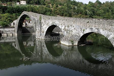 ponte, della, maddalena, across, the, serchio. - 28259218