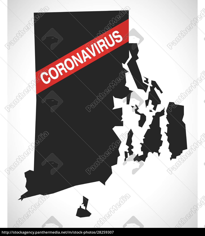 rhode, island, usa, federal, state, map - 28259307