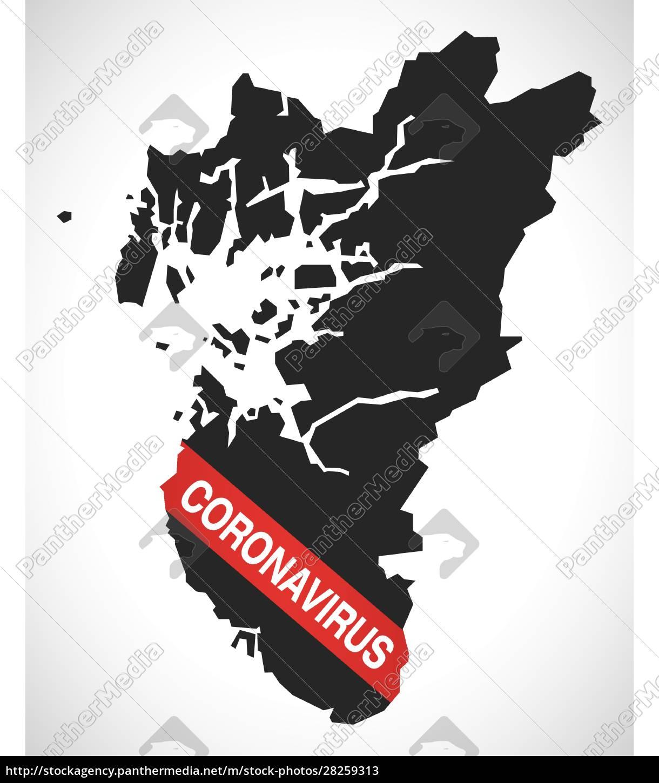 rogaland, norway, county, map, with, coronavirus - 28259313