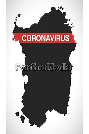 sardinia, italy, region, map, with, coronavirus - 28259204