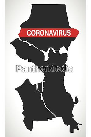 seattle, washington, city, map, with, coronavirus - 28259231
