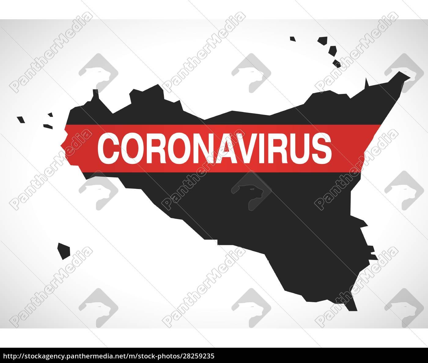 sicily, italy, region, map, with, coronavirus - 28259235