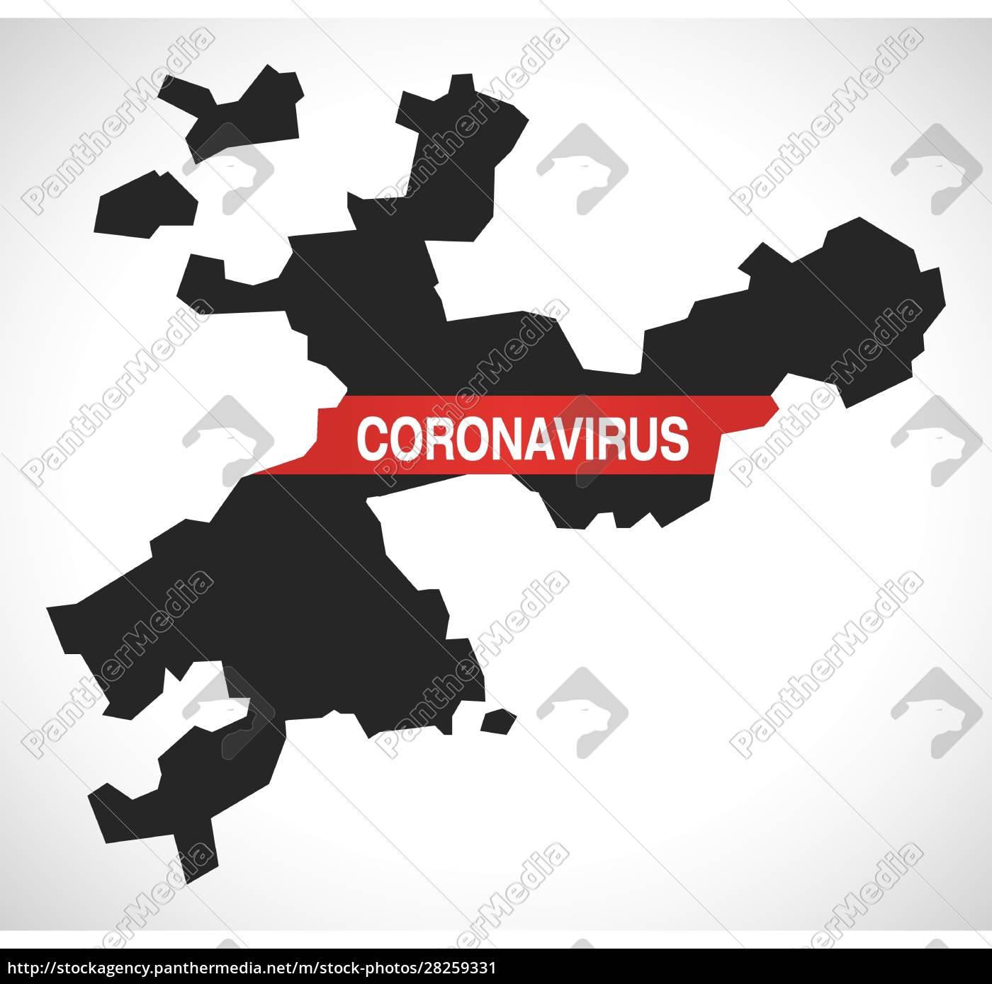solothurn, switzerland, canton, map, with, coronavirus - 28259331
