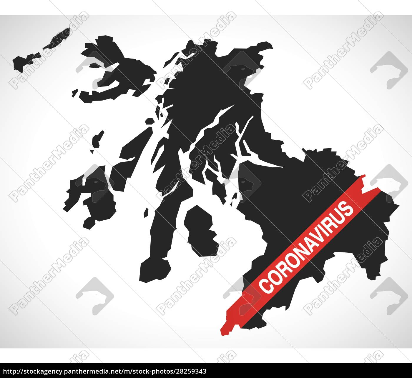 strathclyde, scotland, uk, region, map, with - 28259343