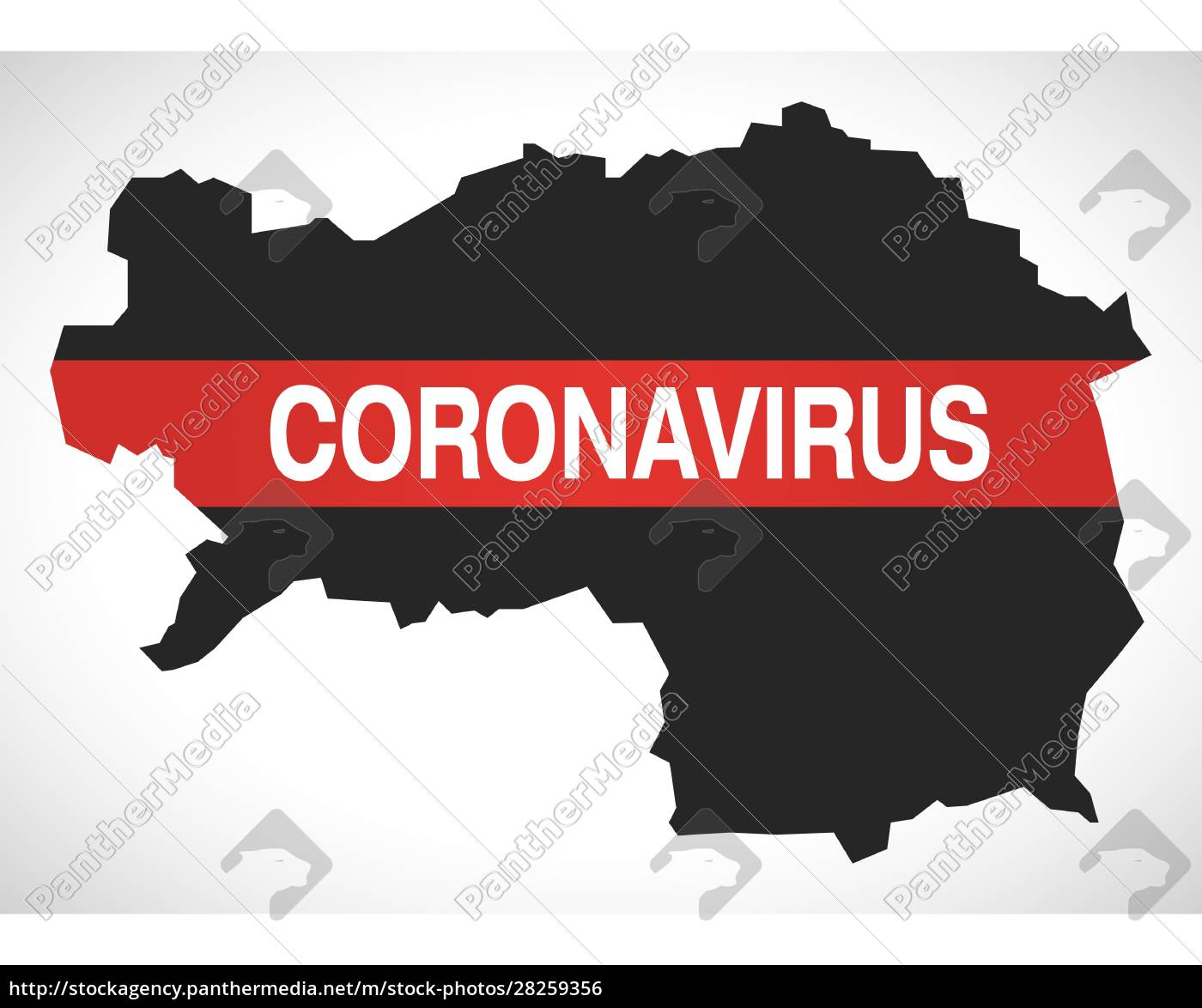 styria, austria, federal, state, map, with - 28259356
