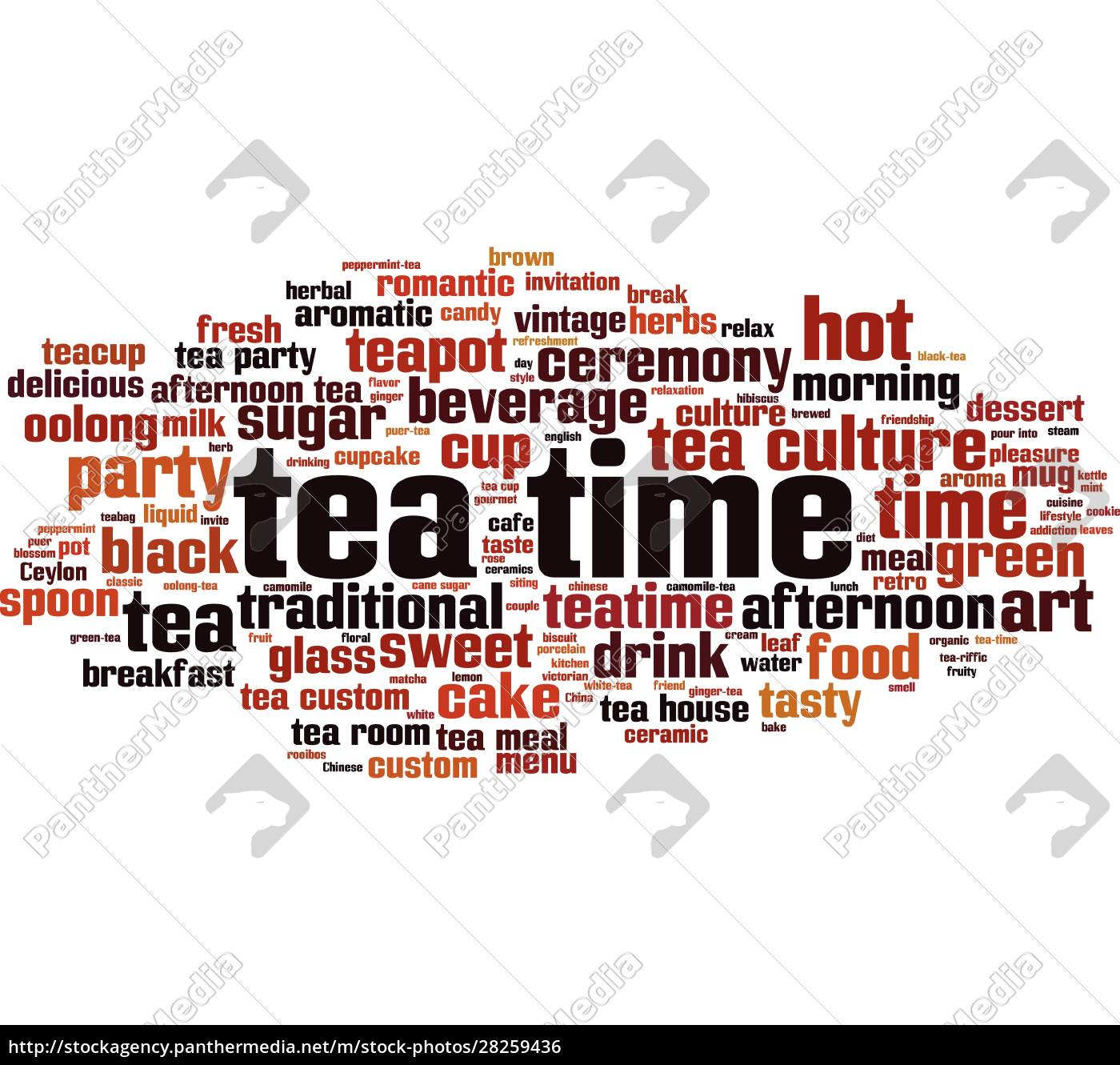 tea, time, word, cloud - 28259436