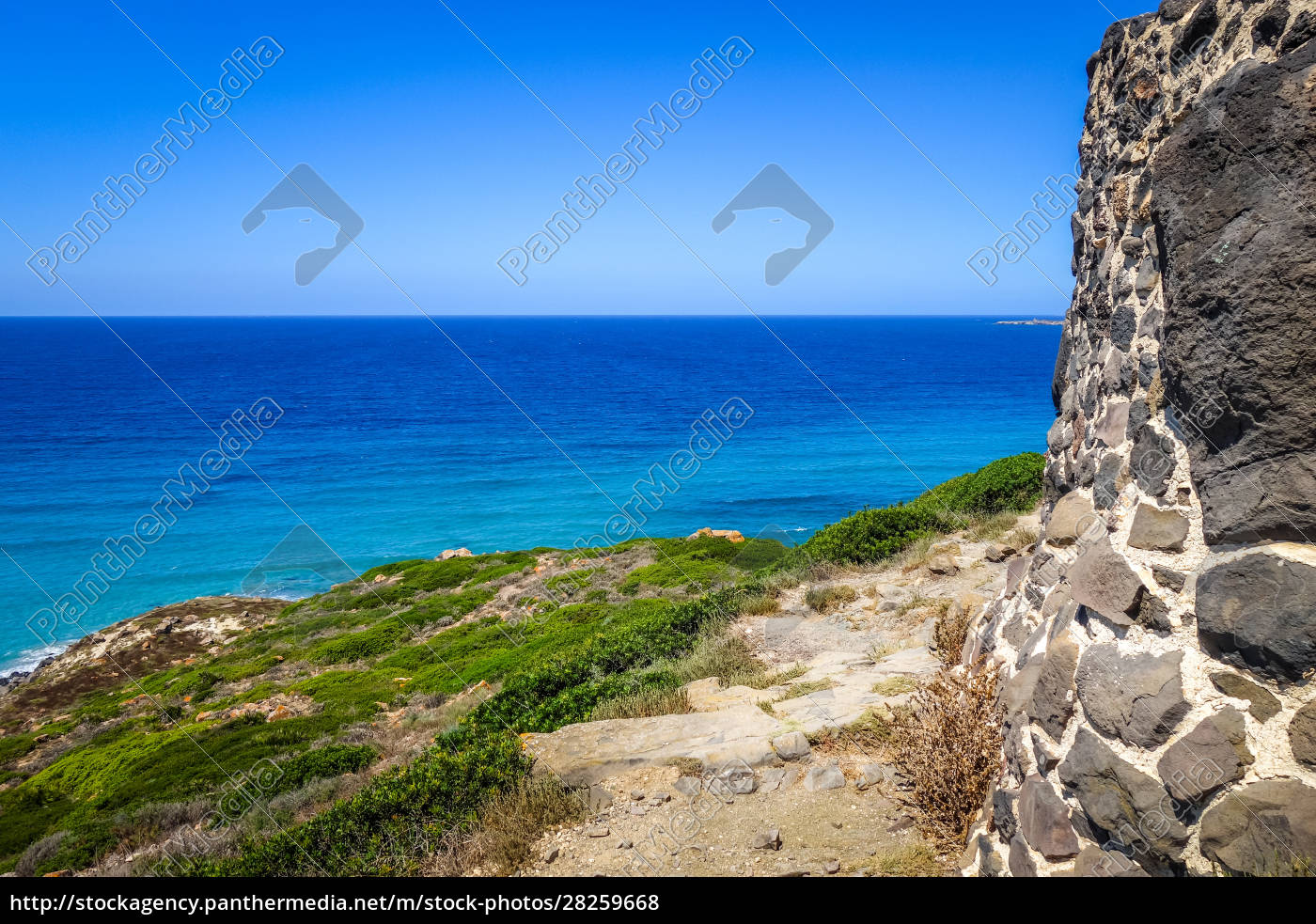 tharros, archaeological, site, and, seascape, , sardinia - 28259668