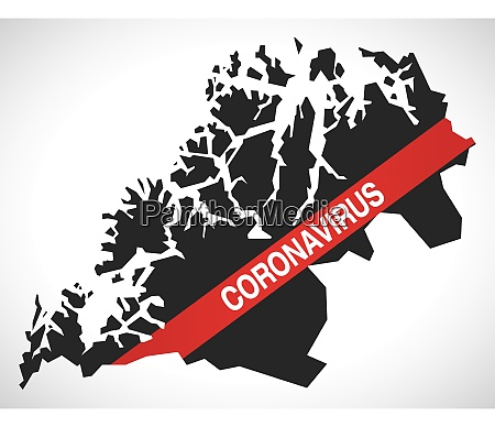 troms, norway, county, map, with, coronavirus - 28259485