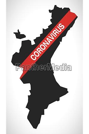 valencian, community, spain, region, map, with - 28259488