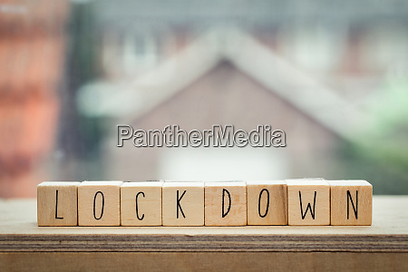 wooden, cubes, with, the, word, lockdown - 28259689