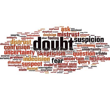 doubt word cloud