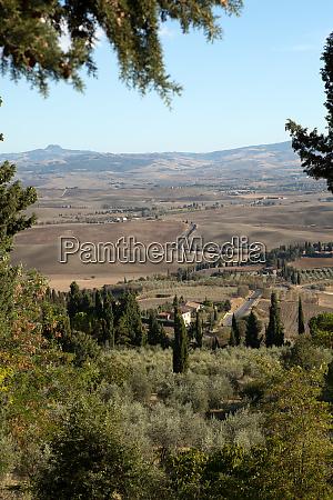 the hills around pienza and monticchiello
