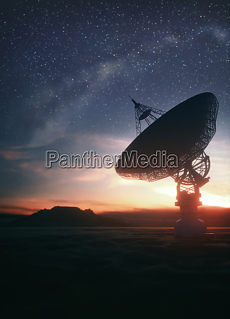 giant satellite dishe for signal from