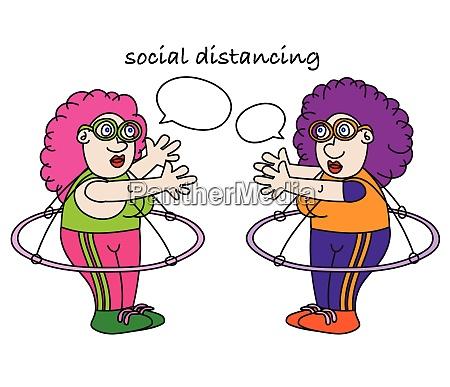 funny coronavirus social distancing cartoon