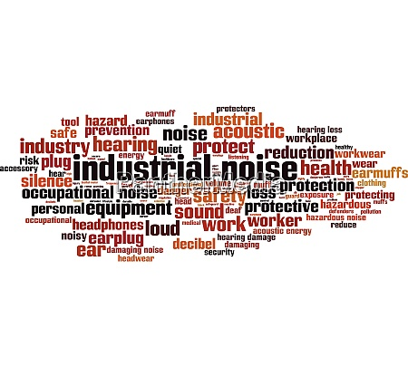 industrial noise word cloud