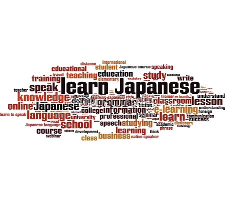 learn japanese word cloud