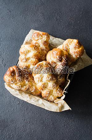 baked fresh fragrant buns traditional homemade