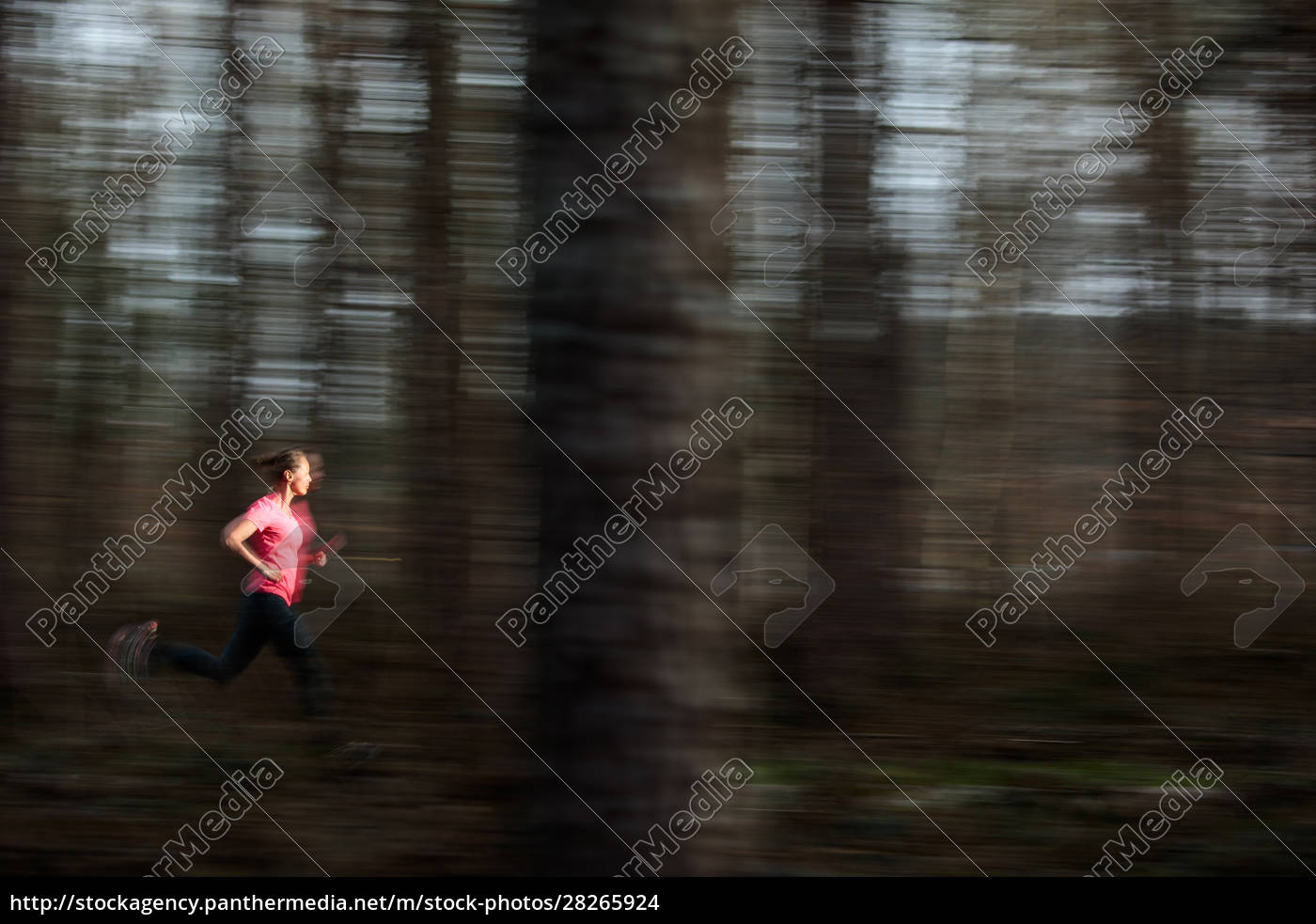 young, woman, running, outdoors, in, a - 28265924
