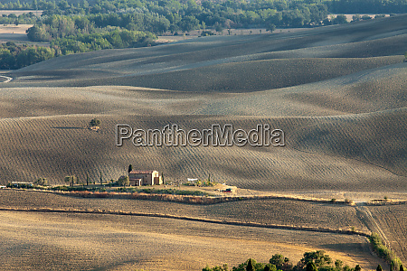 the landscape of the tuscany