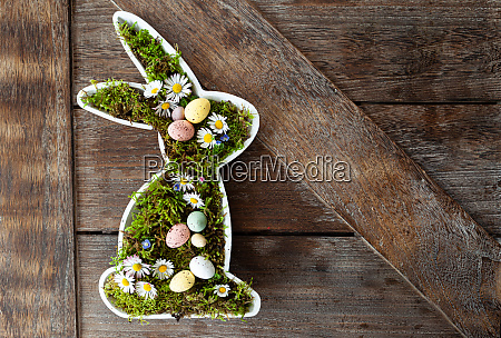 easter bunny with flowers