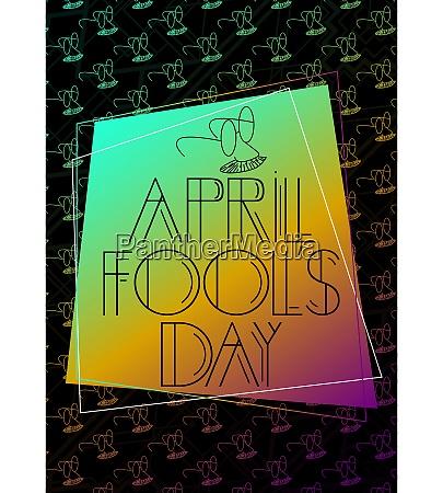 art deco april fools day april