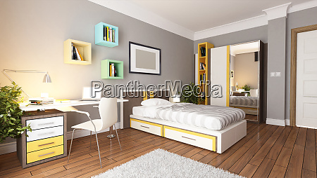 teen young bedroom design idea