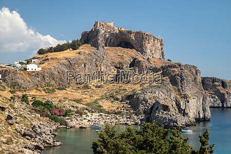 acropolis of lindos at rhodes island