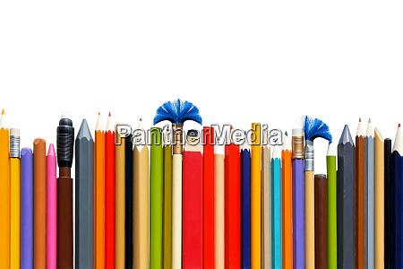 eraser and pencils