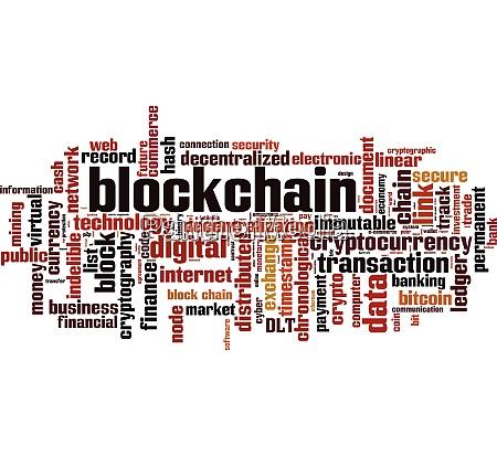 blockchain word cloud