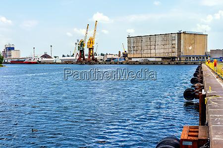 cargo port and harbour in szczecin