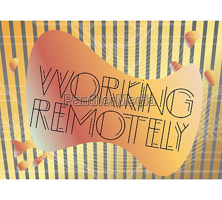 art deco working remotely text