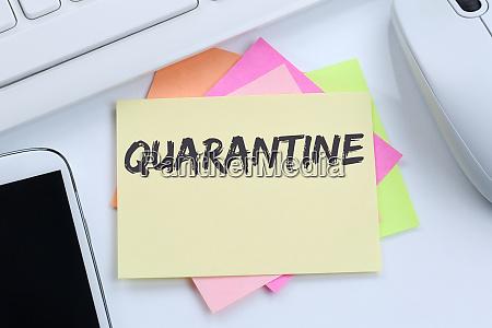 quarantine isolation coronavirus corona virus disease
