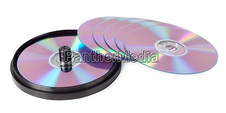 cds spread out like a fan