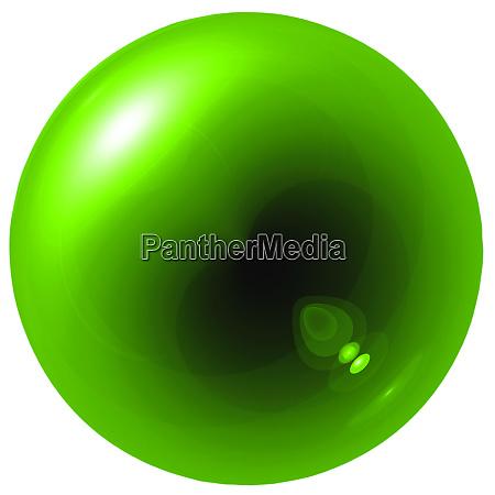 glare green ball