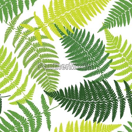 fern tropical seamless pattern vector illustration