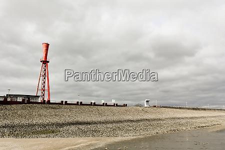 oberfeuer preusseneck lighthouse dike and monument