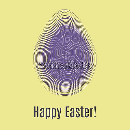 happy easter ultra violet card egg
