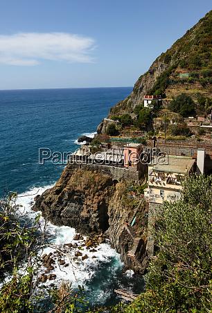 beautiful coastline in cinque terre liguria