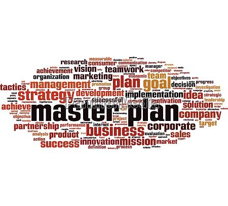 master plan word cloud