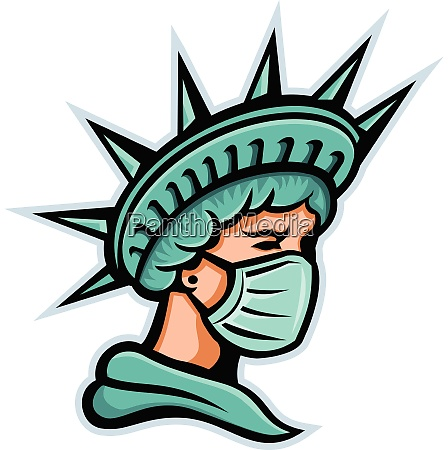 statue of liberty head side mask