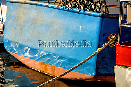 ship hull in blue