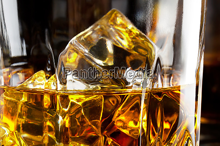 fragment of a glass of whiskey