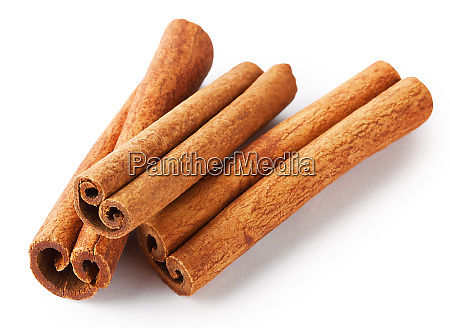 three of fragrant cinnamon sticks