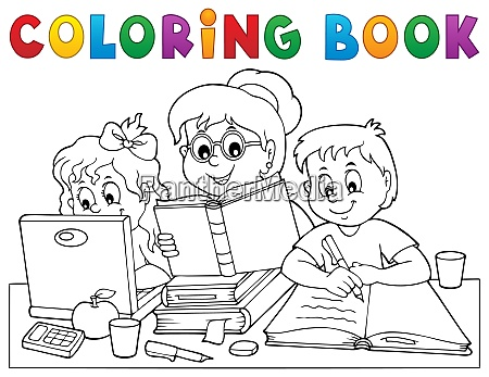 coloring book home schooling image 1