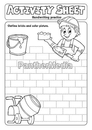 activity sheet handwriting practise 5