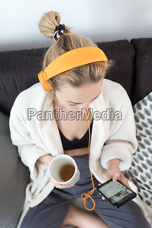 stay at home social distancing woman