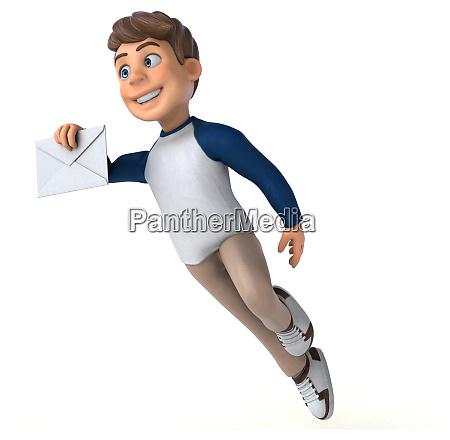 3d, cartoon, character, fun, teenager - 28277481