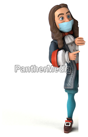 3d, illustration, of, a, cartoon, character - 28277404