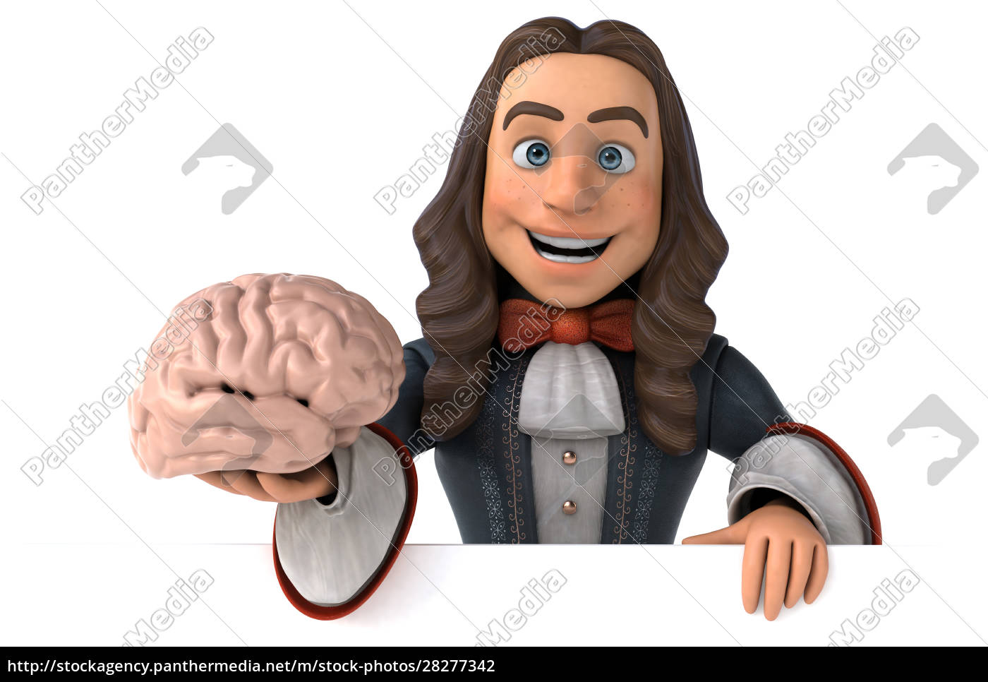3d, illustration, of, a, cartoon, man - 28277342